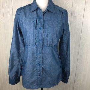 The North Face vented fitted button down shirt